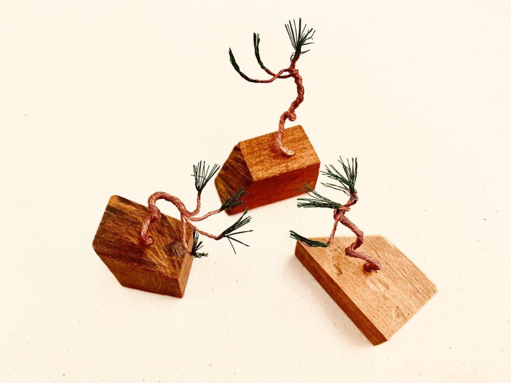 mini針金盆栽